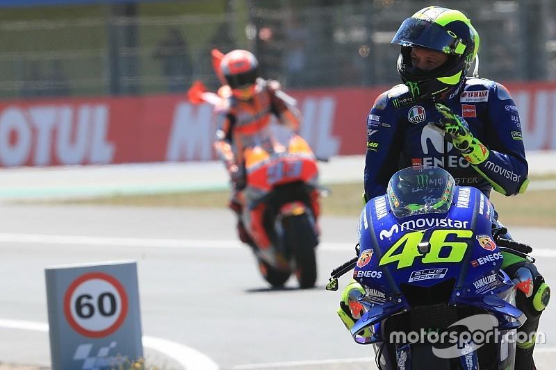Rossi ne s'inquiète pas des records que pourrait battre Márquez