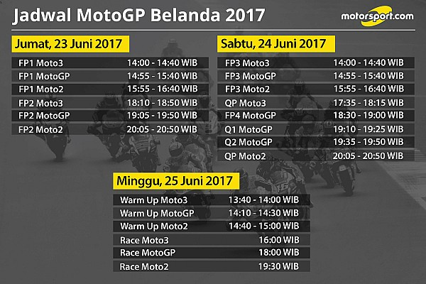 MotoGP Special feature Jadwal lengkap MotoGP Belanda 2017
