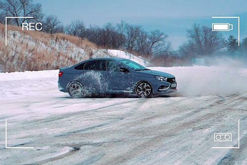 Как водить спортивный автомобиль по снегу? Уроки от LADA Sport ROSNEFT