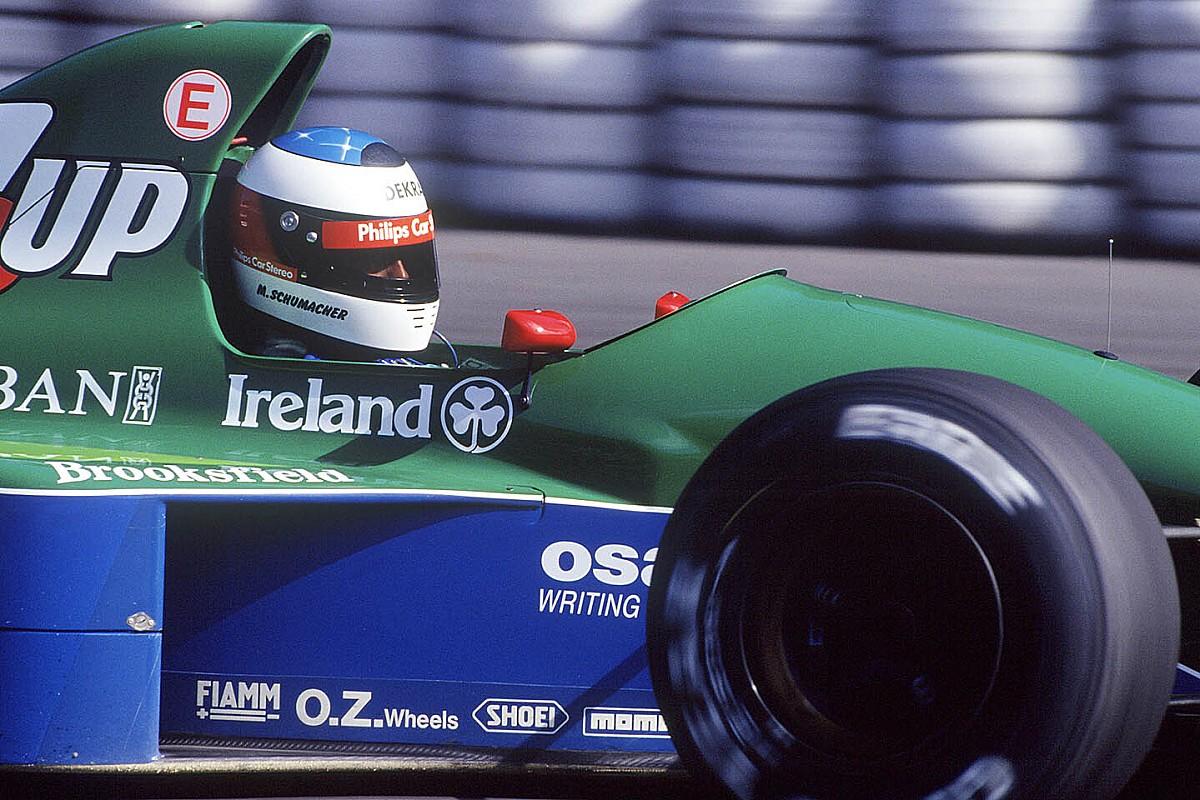 Videón Michael Schumacher F1-es debütálása 1991-ből