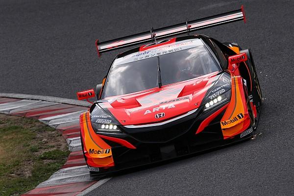 Super GT Suzuka Super GT: ARTA Honda scores pole, Button on front row