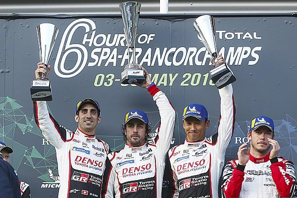 WEC Spa: Alonso maakt dominante zege Toyota af
