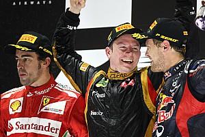GALERÍA: la victoria de Kimi tras su regreso a F1