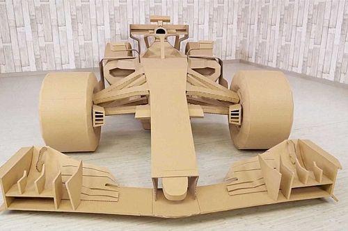 Vidéo - Il construit une Formule 1 en carton !