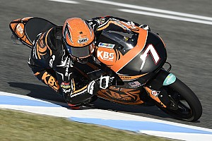 Moto3 Verslag vrije training Eerste training GP Frankrijk: Norrodin snelst op opdrogend Le Mans