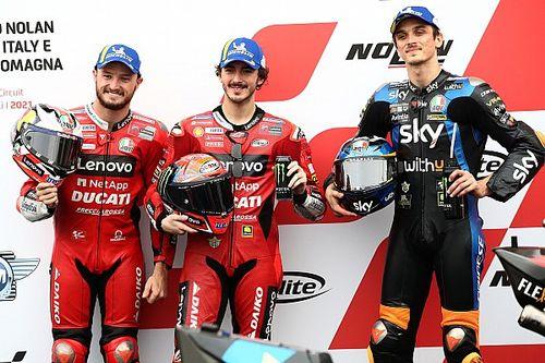 De volledige startopstelling voor de MotoGP Grand Prix van Emilia-Romagna