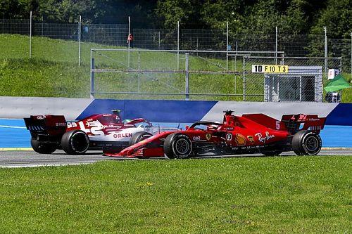 Video: Vettel'in Sainz'a vurmamak için attığı spin