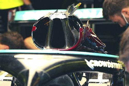 Mercedes: il roll bar di Lewis ha retto perfettamente
