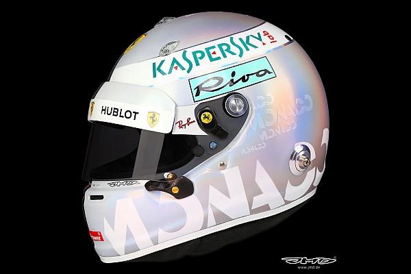Formula 1 Ultime notizie Ecco il casco perlato che Vettel userà al GP di Monaco 2018