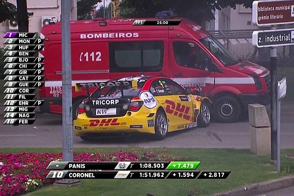 WTCC İtfaiye aracı ile çarpışan Coronel, Portekiz WTCC yarışına katılamayacak