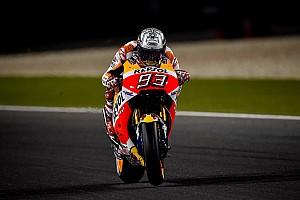 MotoGP Practice report MotoGP Qatar: Meski terjatuh, Marquez tercepat di warm-up