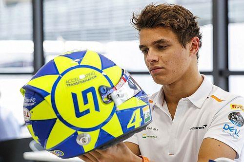 Rossi se diz honrado por homenagem de Norris e se declara fã do jovem prodígio da McLaren