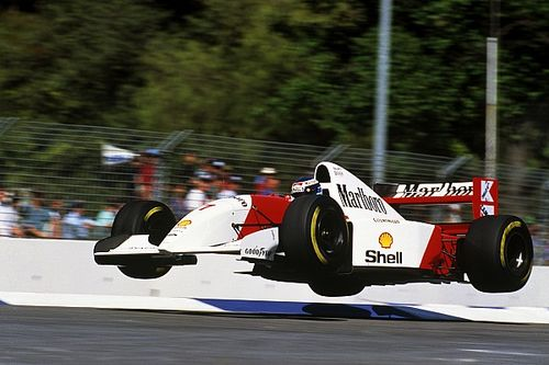 Freeze frame: Mika Hakkinen's 'flying Finn' moment