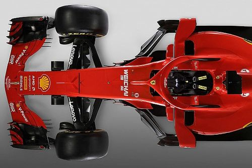 Slide view: 2018 Ferrari F1 car v 2017 version