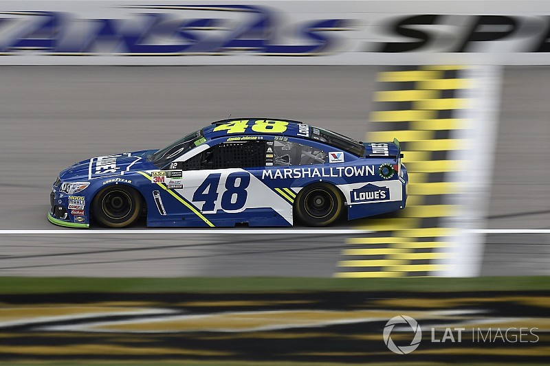 Jimmie Johnson spins twice, but still escapes elimination at Kansas