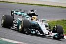 Hamilton snelste tijdens ochtend tweede testdag, Verstappen naar vijfde tijd