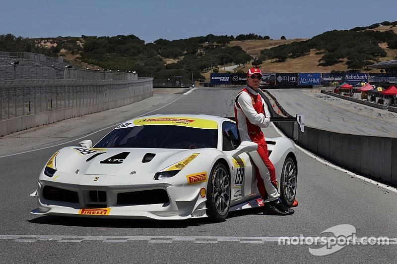 El actor Michael Fassbender corrió con Ferrari