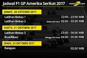 Jadwal lengkap F1 GP Amerika Serikat 2017