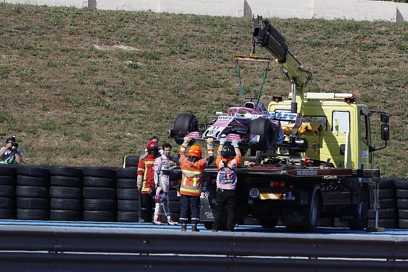Force India ontvangt boete wegens los wiel bij Perez