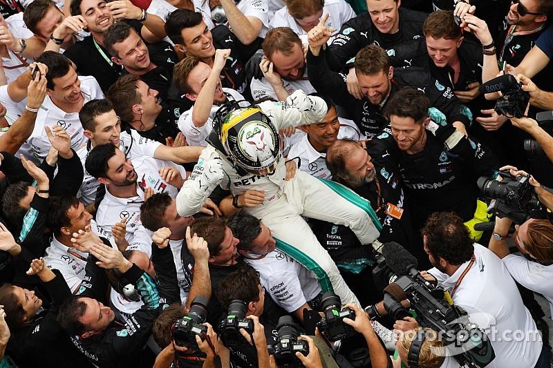Brazilian GP: Hamilton wins after Ocon spins Verstappen