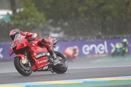 Bagnaia 'lucky' French MotoGP was wet after bike issue