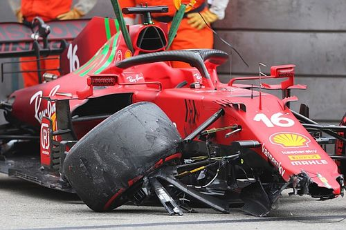 Ferrari: Сход Леклера может быть не связан с аварией