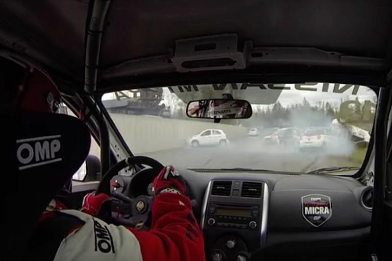 Video: Megaklappers in de Nissan Micra Cup