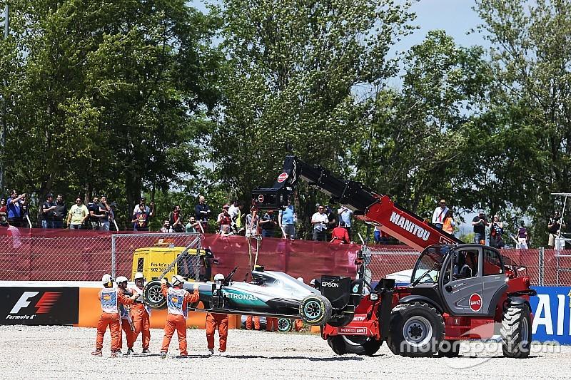 Aus für Mercedes in Barcelona nach Crash zwischen Lewis Hamilton und Nico Rosberg
