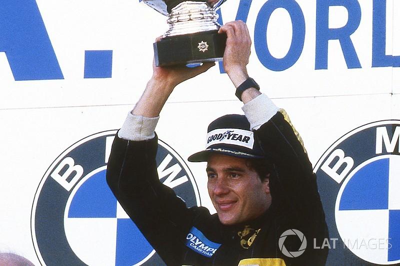GALERIA: A primeira vitória de Ayrton Senna na F1