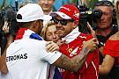 Vettel beri selamat kepada Hamilton usai samai total titel F1