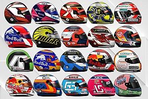 Усі шоломи пілотів Формули 1 у 2019 році