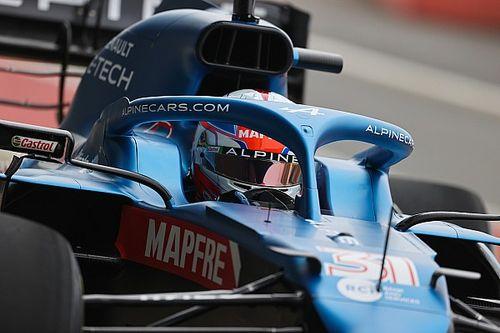 Esteban Ocon boucle une journée de piste avec la nouvelle Alpine