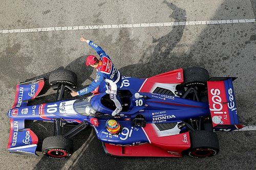 """IndyCar's newest winner Palou """"in love"""" with Dixon, Johnson"""