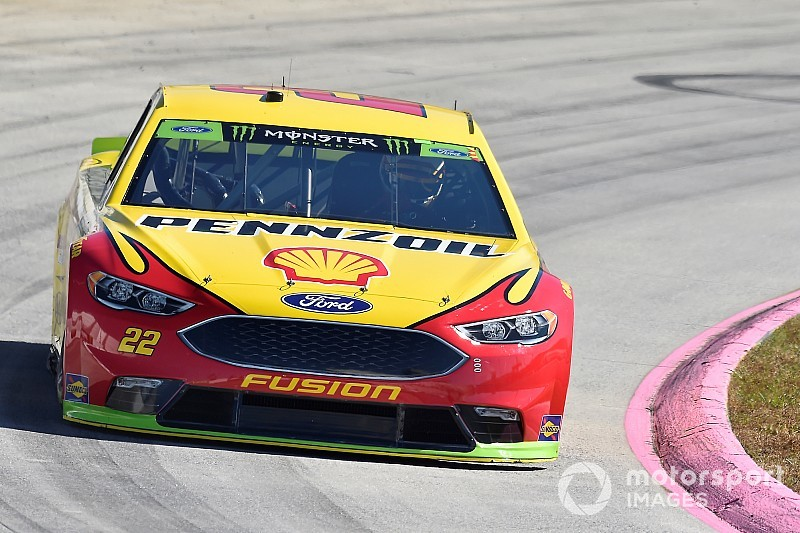 Joey Logano fends off Denny Hamlin for Stage 2 win