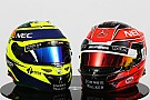 F1 GALERÍA: los nuevos cascos de Pérez y Ocon