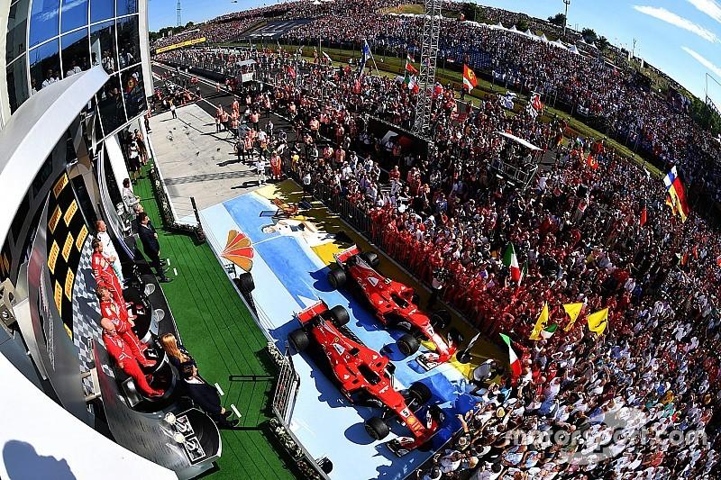 La historia detrás de la foto: Vettel se lleva las celebraciones