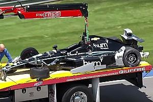 IndyCar Breaking news Indy 500: Newgarden suffers big crash in Day 4 practice