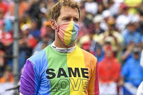 """Vettel, reprimenda por la camiseta LGTBI: """"Lo volvería hacer"""""""