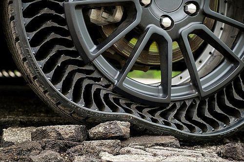 Prima prova in pubblico per le gomme senz'aria Michelin. Video