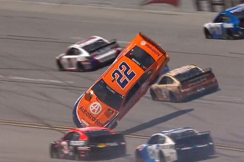 Logano 'happy to be alive' after airborne crash at Talladega