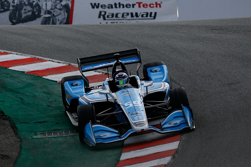Max Chilton meilleur temps des essais de Laguna Seca
