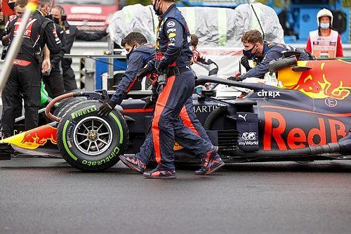 Verstappen choca antes de arrancar el GP de Hungría
