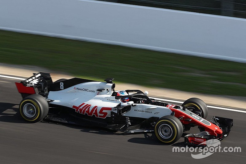 Grosjean plantea un objetivo ambicioso para Haas en Barcelona