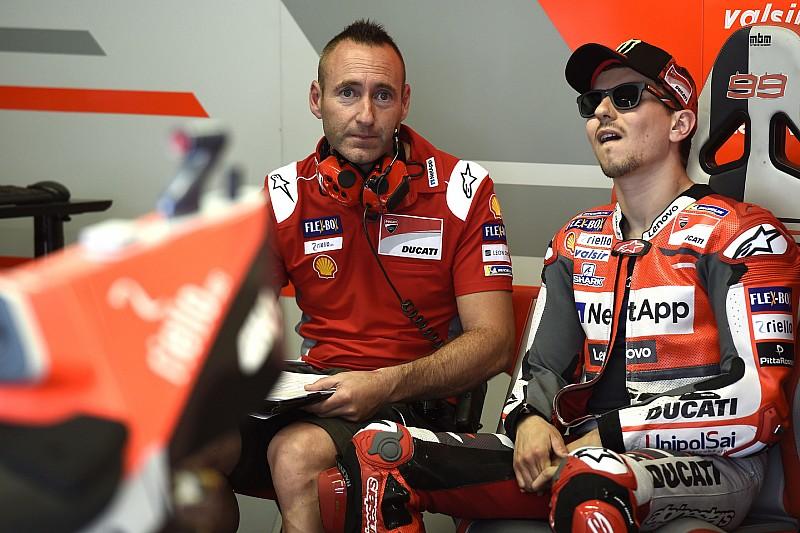 Jorge Lorenzo conferma che Gabarrini non lo seguirà in Honda l'anno prossimo