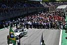 Az F1-es versenyzői parádé és a rajtrács Interlagosból