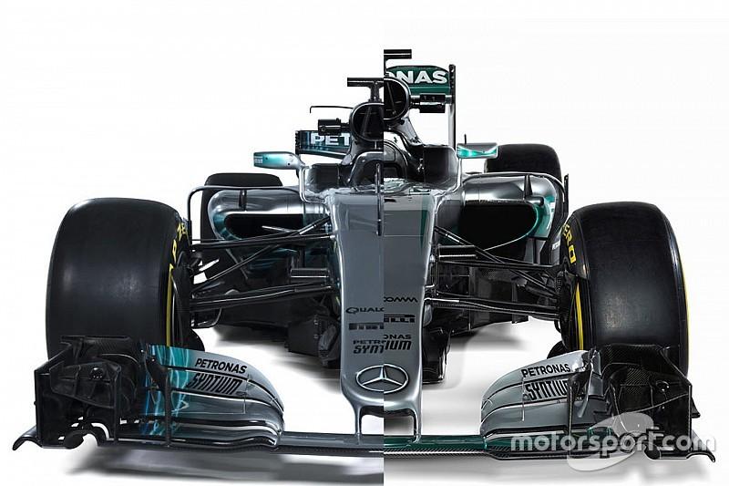 Ф1 2017: боліди Mercedes W07 та W08 у порівнянні