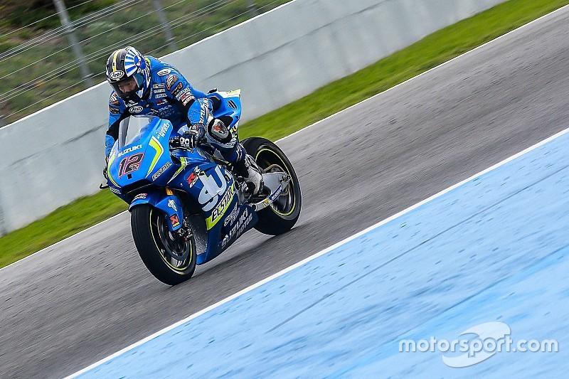 Solo los probadores de MotoGP ruedan el último día de test en Jerez