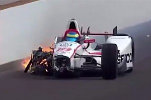 IndyCar Son dakika Indy 500: Bourdais sıralamalarda korkunç bir kaza geçirdi!