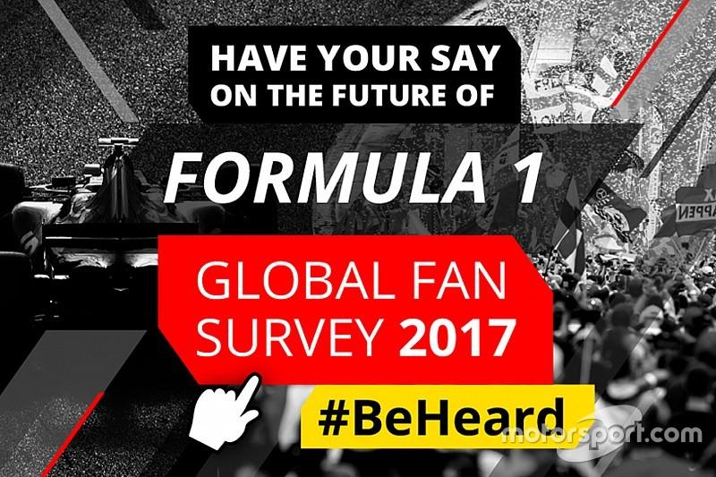 【F1】『グローバルF1ファン意識調査 2017』を全世界で開始