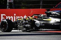 Videón, ahogy Ricciardo nagy erővel nekivágódik a falnak a Stájer Nagydíjon